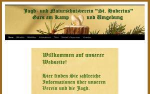 """Homepage des Jagd- und Naturschutzvereins """"St. Hubertus"""" Gars am Kamp und Umgebung"""