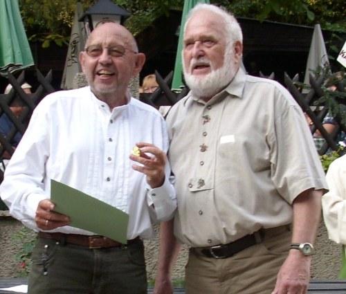 Zwei Georgs: IWÖ-GenSek Dr. Zakrajsek und BÖJV-Präsident Mag. Brandl