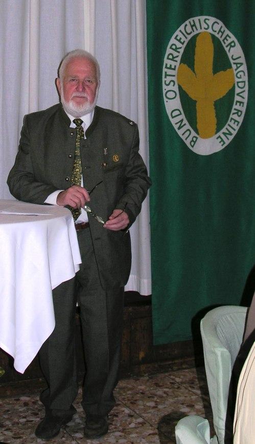 Der Präsident des BÖJV Mag. Georg Brandl