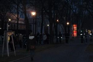 Polizeiabsperrung am Burgring, 24.01.2014, 16:43